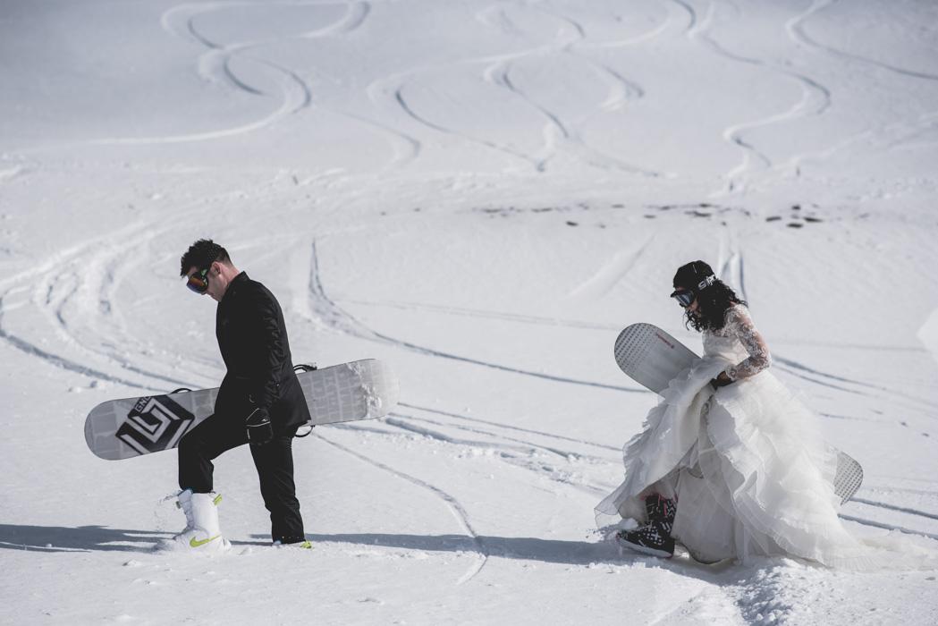 Snowboarding Wedding Season