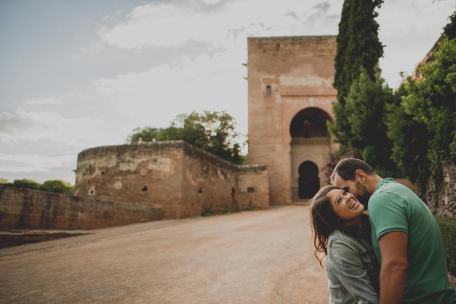 Pre Boda en exteriores de la Alhambra. Nuria y Enrique 15