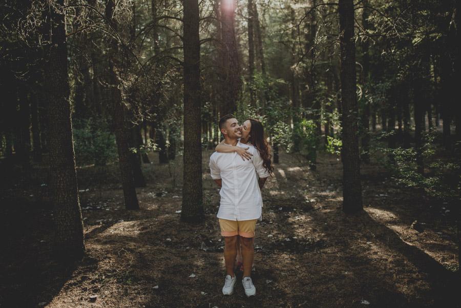 Alicia y Juan. Pre Boda en el Bosque de Huetor Santillan. Fran Ménez Fotografos de Boda 1