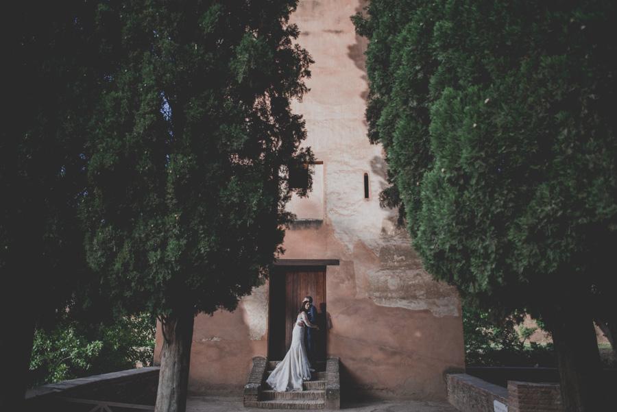 Sesión de post boda en la Alhambra de Granada. Reportaje post boda en Granada, por Fran Ménez Fotógrafo.