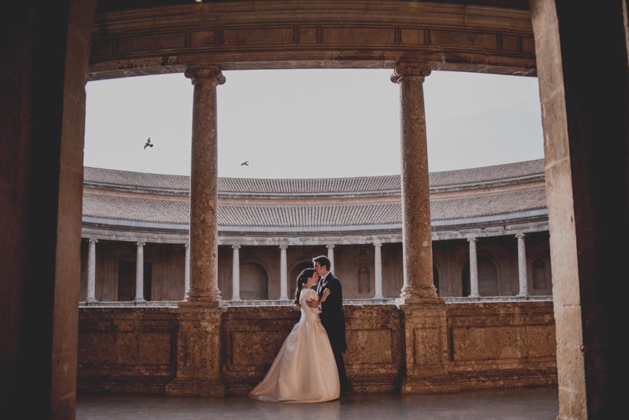 Post Boda en los alrededores de la Alhambra. Fran Menez Fotógrafos de Boda en Granada. 21