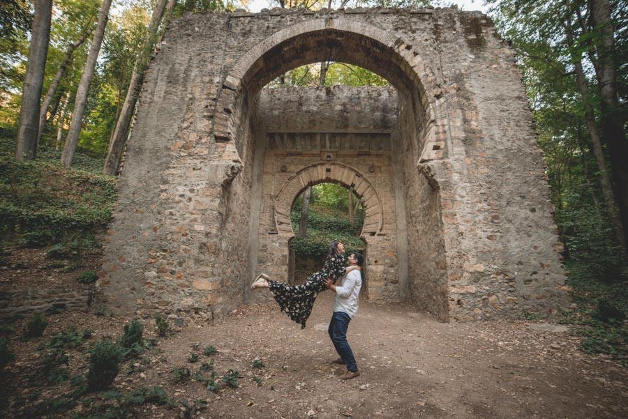 Pre Boda Gema y Mariano. Bosque de la Alhambra. Fran Ménez Fotógrafo de Parejas en Granada 19