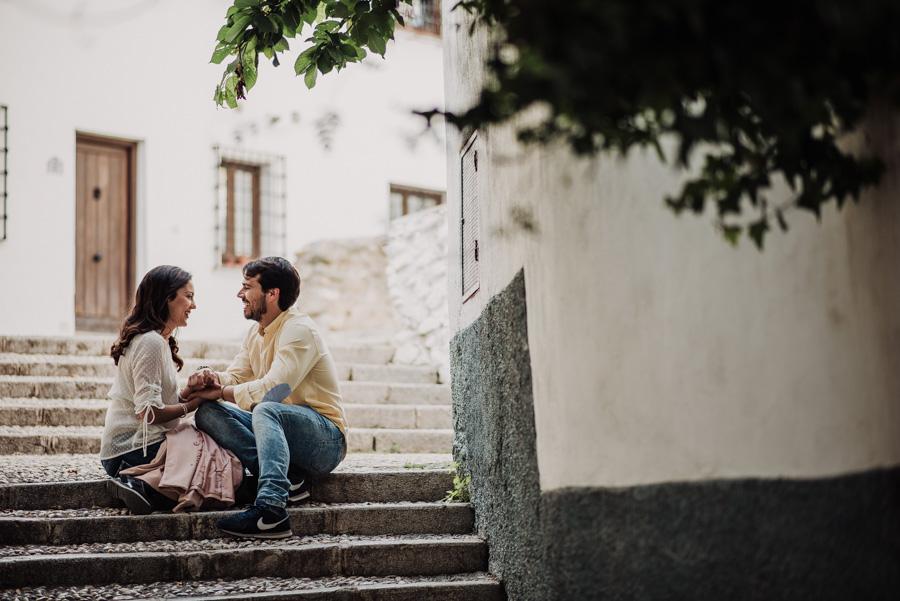 Pre Boda Fátima y Pablo. Sesión Fotográfica en el Albaicin, Granada. Por Fran Ménez Fotógrafo de Bodas 3